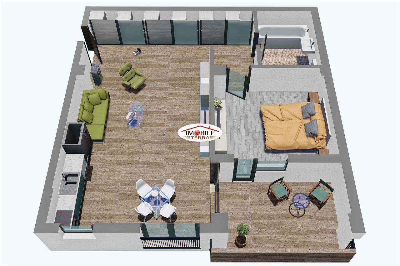 Apartament 2 camere, Parter, Tip 1, Balanta Residence Sibiu