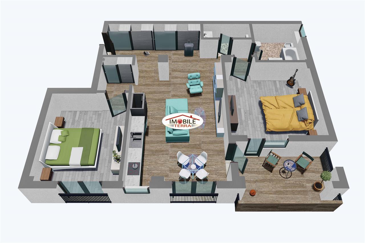 Apartamente Balanta cu 3 camere, Parter, Tip 2