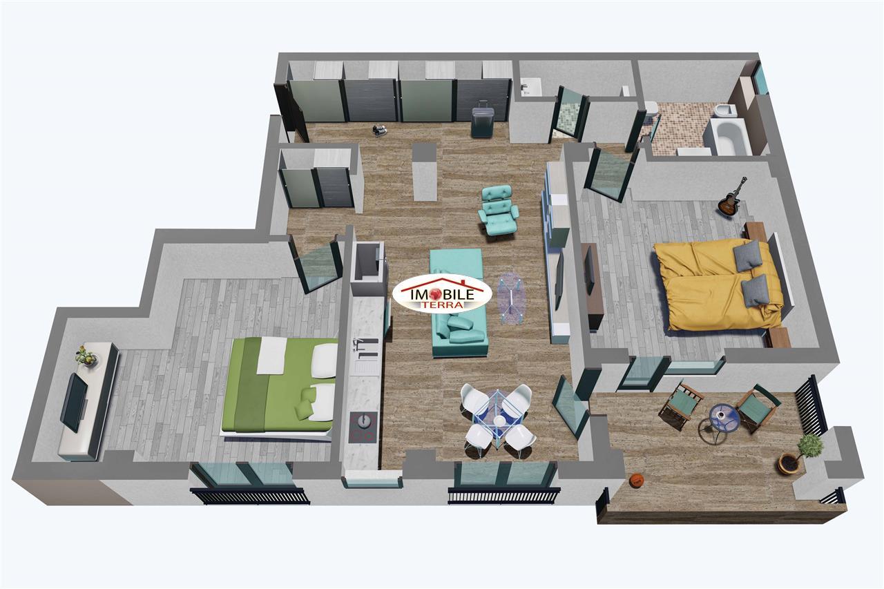Apartament 3 camere, Tip 3, etajul 1 3, Balanta Residence Sibiu