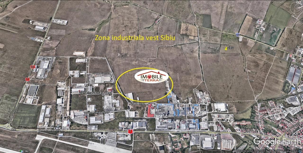 Teren de vanzare in zona industriala vest Sibiu