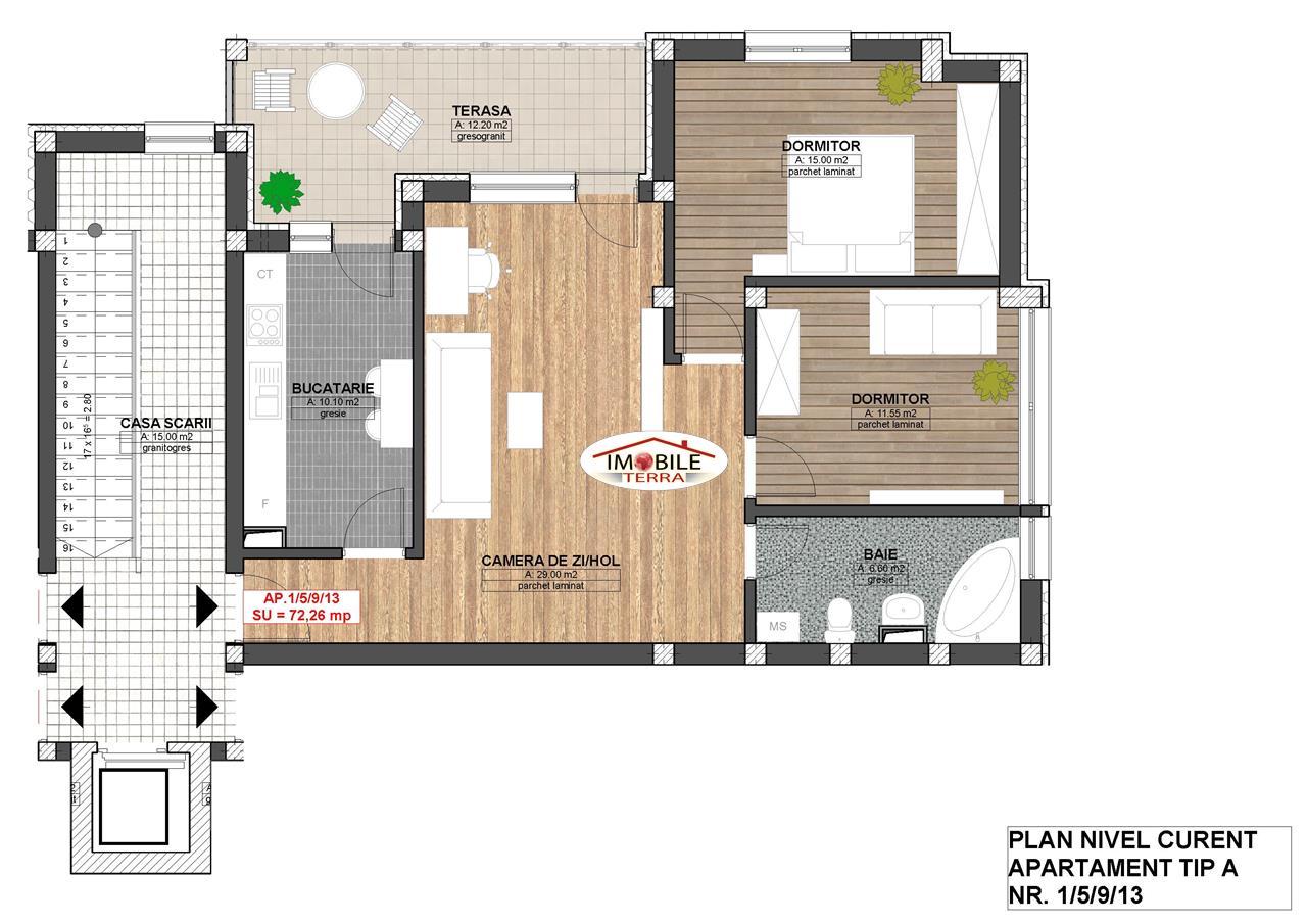 Apartament 3 camere la parter in cartierul Kogalniceanu