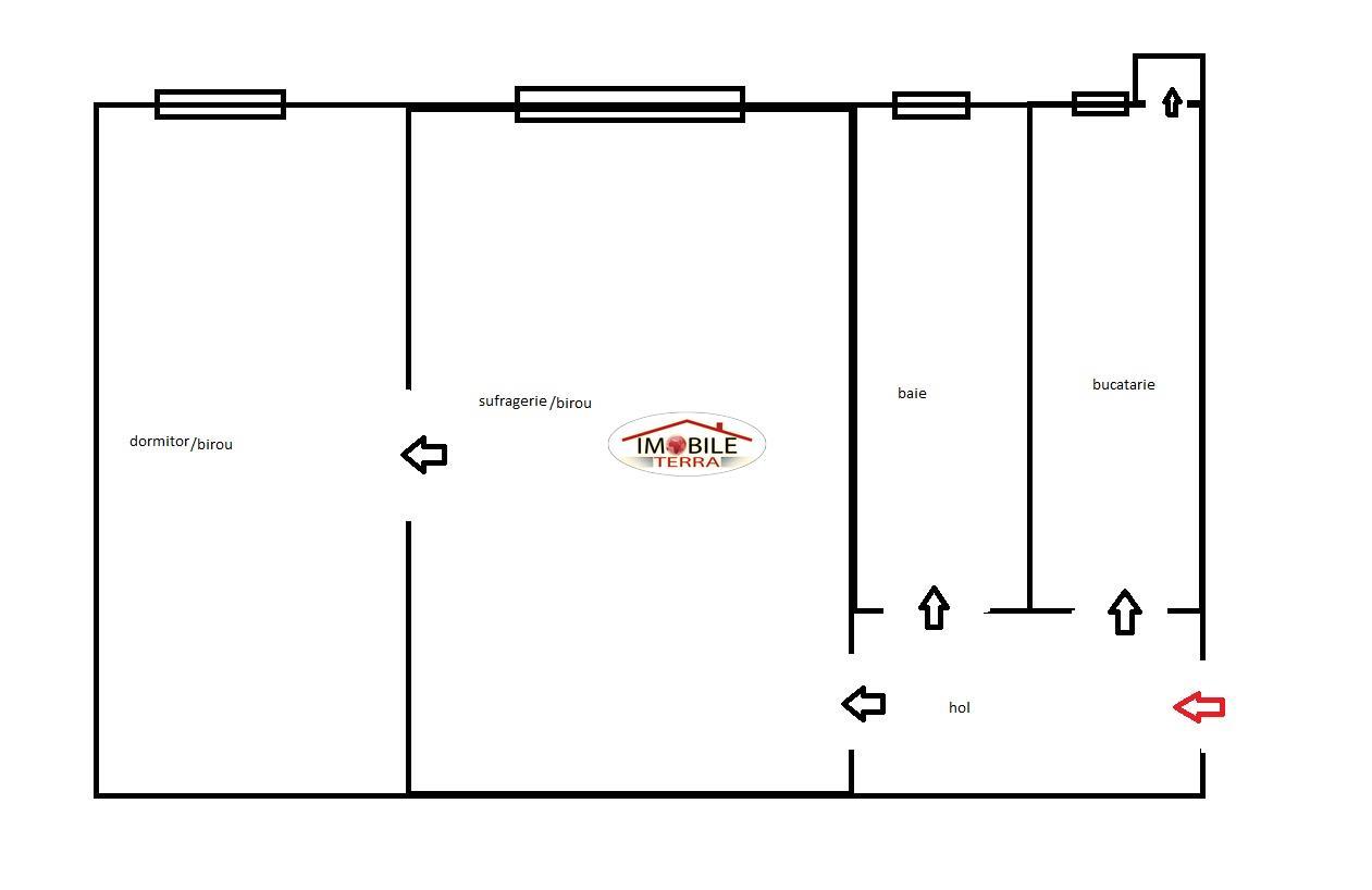 Apartament 2 camere de vanzare zona Piata Rahovei   Sibiu