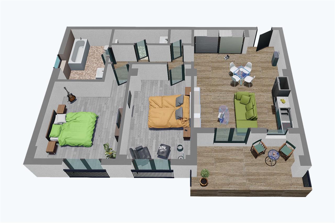 Apartament 3 camere, Balanta Residence (Parter Tip 1)