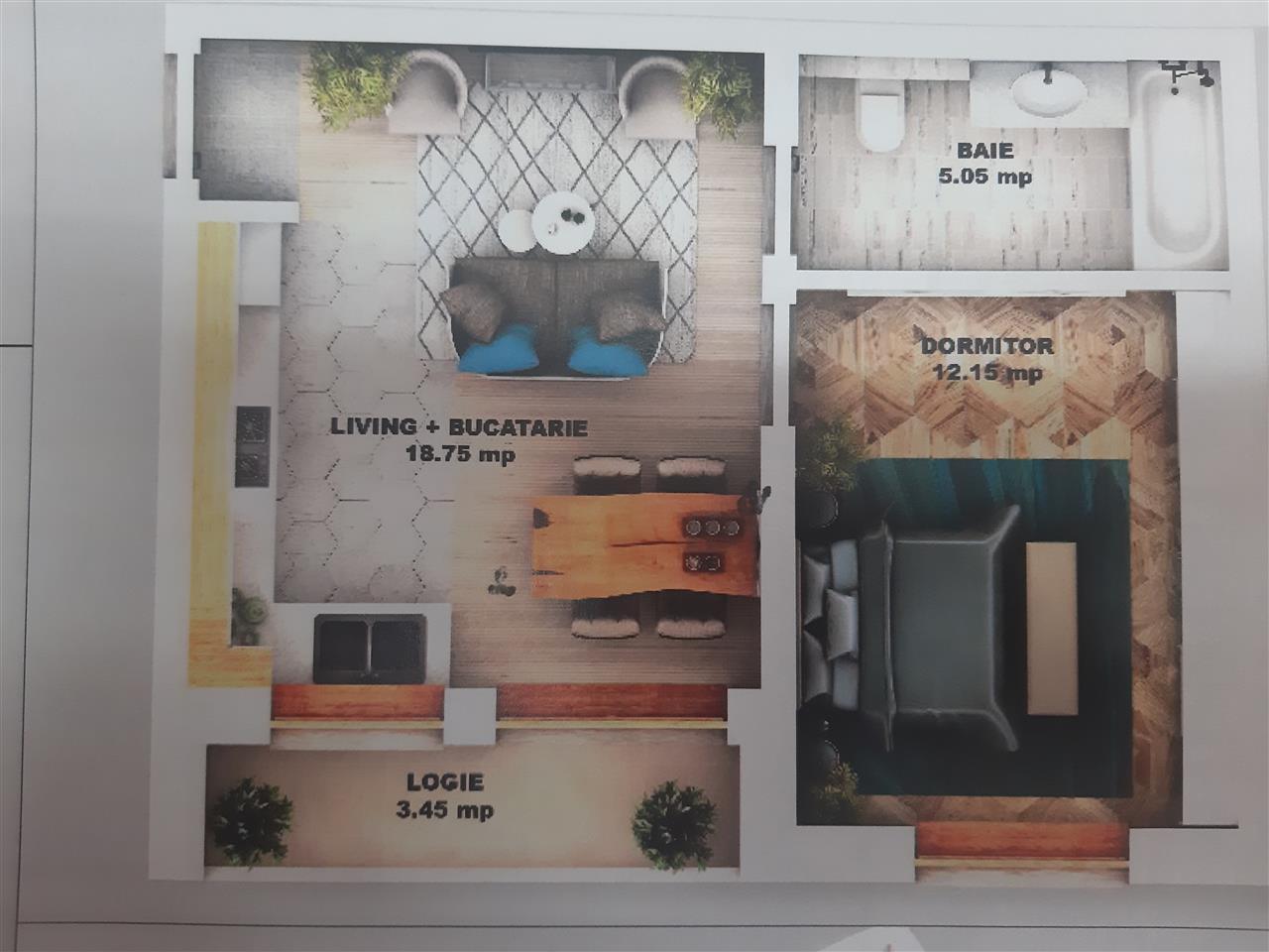 Apartament NOU 2 camere de vanzare zona Calea Cisnadiei Sibiu