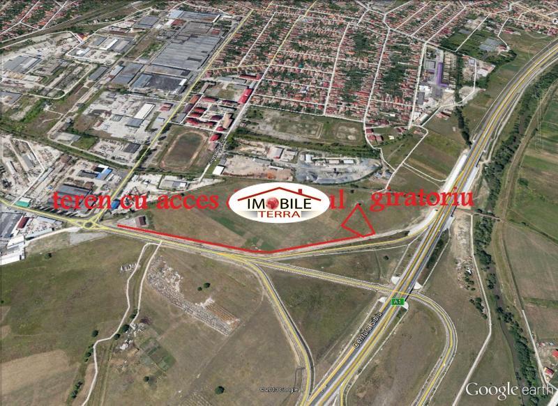 Teren industrial zona est pentru constructie hala in Sibiu