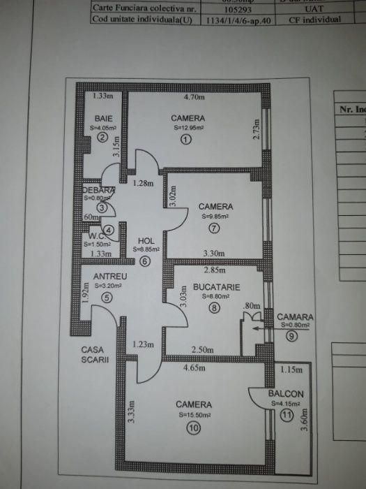 Apartament 3 camere decomandate de vanzare in Sibiu