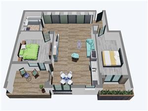 Apartamente Balanta cu 3 camere, Etajul 1-3, Tip 2