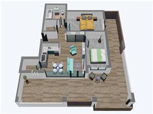 Apartamente Balanta cu 3 camere, Tip 3, Penthouse