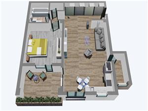 Apartament 2 camere, Tip 1, etajul 1, 2 si 3, Balanta Residence Sibiu