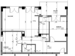 Apartamente Balanta cu 3 camere, Parter, Tip 1