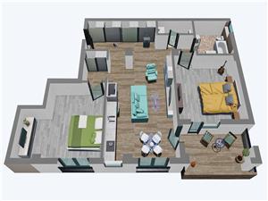 Apartamente Balanta cu 3 camere, etaj tip 3