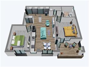 Apartamente Balanta cu 3 camere, Parter tip 2