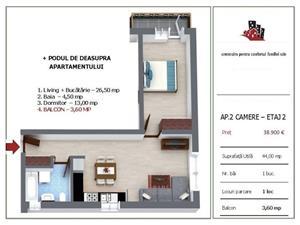 Apartament nou cu 2 camere Selimbar