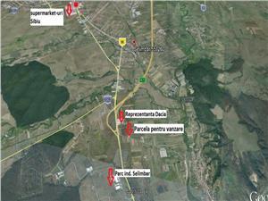 Teren industrial de vanzare in Selimbar Sibiu