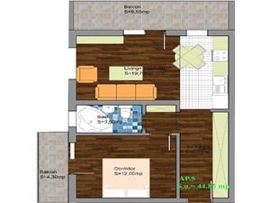 Apartament 2 camere de vanzare constructie 2015