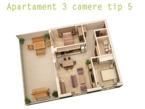 Comision 0%  - Penthouse 3 camere, 70mp + 45 mp terasa