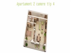 Comision 0%  - Apartament 2 camere, 53mp + 10 mp balcon