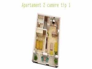 Apartament 2 camere, Tip 1, direct de la dezvoltator fara comision