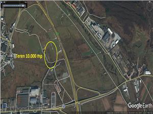 Teren industrial 10000 mp zona industriala est Sibiu