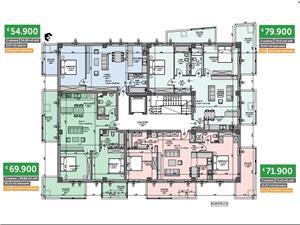 Apartament 3 camere ideal pentru regim hotelier, zona Dedeman Sibiu