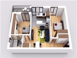 Apartament 3 camere la cheie cu terasa si gradina , Selimbar
