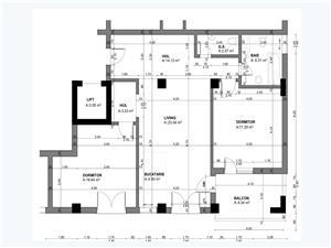 Apartament 3 camere, Tip 3, etajul 1-3, Balanta Residence Sibiu
