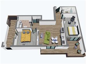 Penthouse cu 3 camere, Balanta Residence Sibiu (Tip 2)