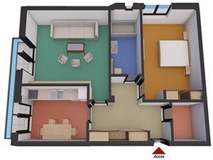 Apartament nou cu 2 camere direct de la dezvoltator