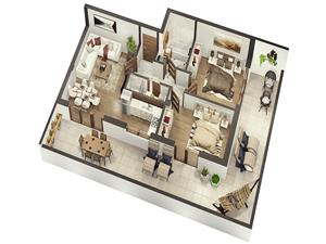 Penthouse LUX cu trei camere si terasa